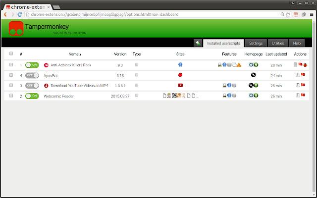 Tampermonkey BETA油猴脚本管理器 V4.14.6142 Chrome谷歌浏览器插件下载